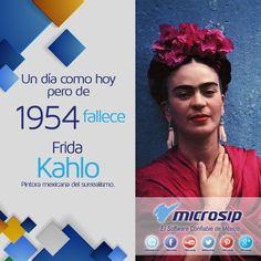 Un día como hoy 13 de julio  pero de 1954 muere Frida Kahlo, pintora mexicana del surrealismo.