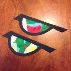 Hupsutteluja: Linnut ikkunassa eli silkkipaperista tehdyt ikkuna-askartelut // Suncatcher birds (toddler/preschooler/kid DIY)