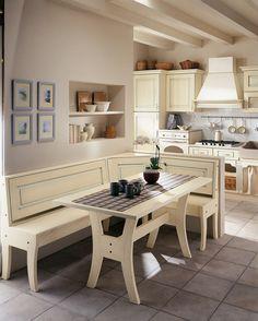 Da abbinare con la nostra #Valentina?? Che ne dite di tavolo e panca :-) Kitchen Nook, Corner Desk, Dining Bench, Furniture Design, Pallet Ideas, House, Home Decor, Houses, Corner Table