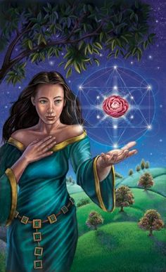Flower Oracle Card - Activate
