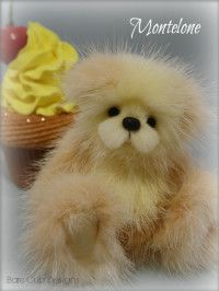 Mink Artist Teddy Bear. Collectable bear. Artist Helen Gleeson. Bare Cub Designs collection - Montelone