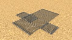 an example of a 2x1x1 Gabion animated to shown the installation thereof for Gabion Baskets.