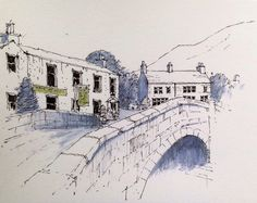 Kettlewell in the Yorkshire Dales ~ sketch ~ John Edwards