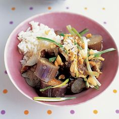 Steamed Eggplant and Mushrooms Recipe | Martha Stewart