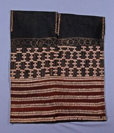 Burma (Mynamar). Tunic of cotton textile decorated with embroidery and coix seeds