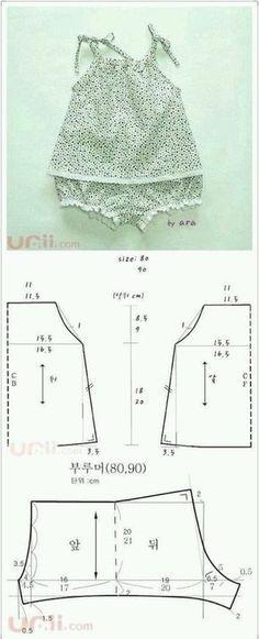 Koszulka i majtki wykroje