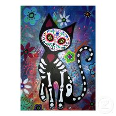 cat+sugar+skull - Google Search