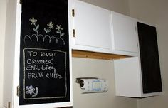 DIY Chalkboard Kitchen Cabinets- I WANT THIS