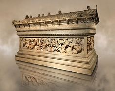 Photo of Alexander The Great sarcophagus from the Sidon Royal Necropolis at the Istanbul Archaeological Museum by Paul Williams To download