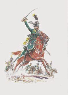 Officiers des Chasseurs a cheval (4° Rgt)