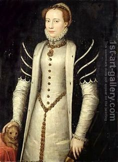 "Anthonis Mor ""Noblewoman with puppy"" 1555 I really love this artist. I mean really really love his portraits."