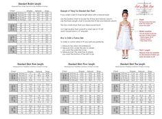 Tutu Dress Size Chart by JustaLittleSassShop on Etsy