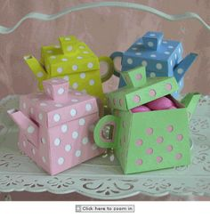 Tea Party Favor Boxes not directions, just available to buy