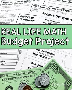 math in the real world Your students will love this real world math project! Not only are your students practicing math skills including percentages, creating a pie chart and budge Life Skills Lessons, Teaching Life Skills, Math Skills, Teaching Math, Math Lessons, Math Enrichment, Math Activities, High School Activities, Consumer Math