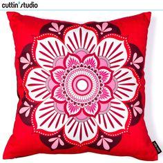 Capa de almofada 40 X 40 - Mandala Rosa