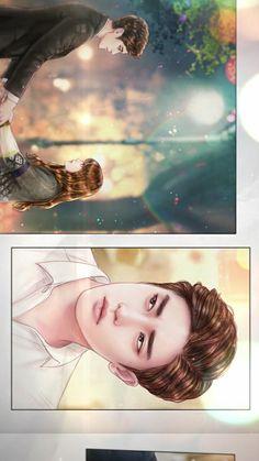 [My Secret Romance] Korean Drama Cute Couple Cartoon, Anime Love Couple, I Love Anime, Romance, Anime Love Story, African Art Paintings, Kdrama, Cute Love Stories, Chibi