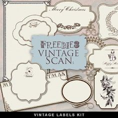 Freebies Old Christmas Labels ~ Far Far Hill