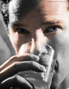 Benedict Cumberbatch. Even the glass is sweating as much as I am looking at this photo!