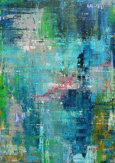 Saatchi Art: Azur Reflection Painting by Ingeborg Herckenrath