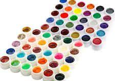 Groß 60 Ungleiche Farben Nail Art UV Gel Set Perle M. Glänzendene Farbe Werkzeug