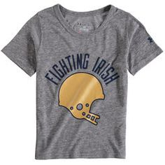 Yuoth Under Armour Gray Notre Dame Fighting Irish Iconic Performance T-Shirt