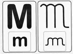 Pedagógiccos: Alfabeto - letra cursiva e caixa alta Logos, Disney, Letter M Activities, Abc Centers, Educational Activities, Writing Assignments, Lower Case Letters, Kids, A Logo
