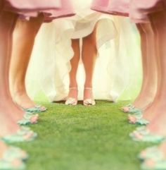 I love shoe pics! This is a cute one of the bride and all the bridesmaids