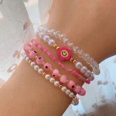 Funky Jewelry, Cute Jewelry, Trendy Jewelry, Jewelry Crafts, Bead Jewellery, Beaded Jewelry, Beaded Necklaces, Jewelry Bracelets, Jewelery