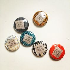 White Hills Quilts fabric buttons. 1 inch.