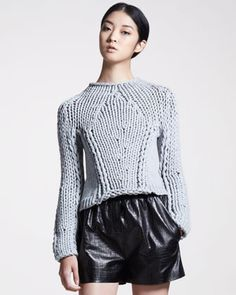 Alexander Wang Seamless Chunky Hand-Knit Sweater, 212 872 2843
