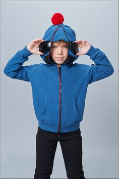 For the milder hill days, this fleece is perfect for hittin the slopes. #Skimask #Kidfashion