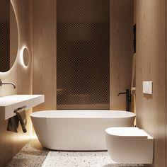 Bathroom Vibes 😍 Render b Bathroom Spa, Bathroom Toilets, Hall Bathroom, Home Interior, Modern Interior Design, Ideal Bathrooms, Brown House, Modern House Plans, Minimalist Interior