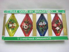 Vintage Bradford Yule Gems Christmas Ornaments by CeeGeesAttic, $15.00
