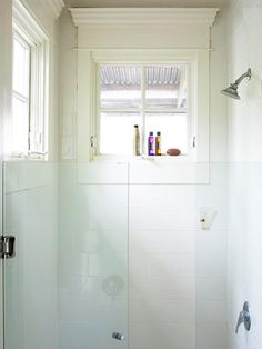 If you're wondering how to decorate a bathroom, you'll love these small bathroom design ideas. Create a stylish bathroom with big impact with our easy small bathroom decorating ideas. Bathroom Windows In Shower, Window In Shower, Glass Shower Doors, Bathroom Renos, Bathroom Ideas, Shower Walls, Shower Screen, Bath Ideas, Glass Doors