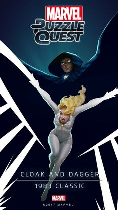 Cloak and Dagger Marvel Comic Character, Marvel Comic Books, Marvel Dc Comics, Marvel Characters, Marvel Heroes, Cosmic Comics, Dazzler Marvel, Marvel Cards, Mundo Marvel