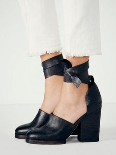 to Stand in Heels for 8 Hours Without Killing Your Feet Free People Cora Wrap HeelsFree People Cora Wrap Heels Stretch Leather Shoes, Leather Heels, Cute Shoes, Me Too Shoes, Rocker, Wrap Heels, Block Heel Shoes, Rock Chic, Shoes Heels Wedges