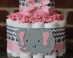 baby shower pink elephant – Etsy