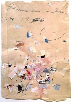 Cy Twombly - Bassano in Teverina, 1976 - Graphite, colored pencil, collage, and… Cy Twombly, Collages, Collage Art, Abstract Expressionism, Abstract Art, Modern Art, Contemporary Art, Photocollage, Art Abstrait
