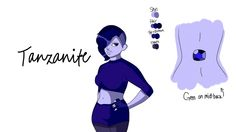God this took all day lol Soooo this is my gemsona Tanzanite obviously x3 Thanks to LordVaderNihilus for helping me create her. The sketch took the longest and I hope the anatomy is okay Template i...