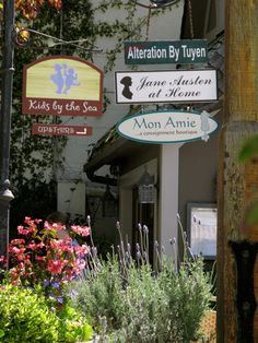 Charming shops in Carmel, California, USA