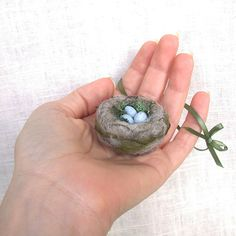 needle felted nest ornament by Janine - Foxtail Creek Studio, via Flickr