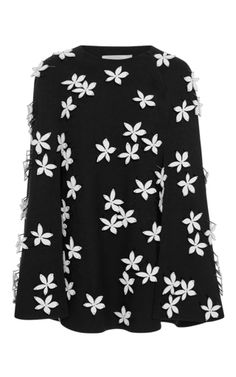 Floral Embellished Tunic  by CAROLINA HERRERA for Preorder on Moda Operandi