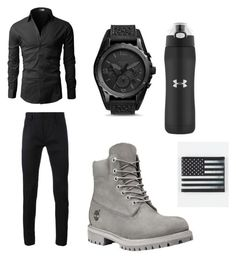 """""""men were is better I think"""" by meagan-gilstrap on Polyvore featuring Haider Ackermann, FOSSIL, Under Armour, Buckle-Down, mens, men, men's wear, mens wear, male and mens clothing"""
