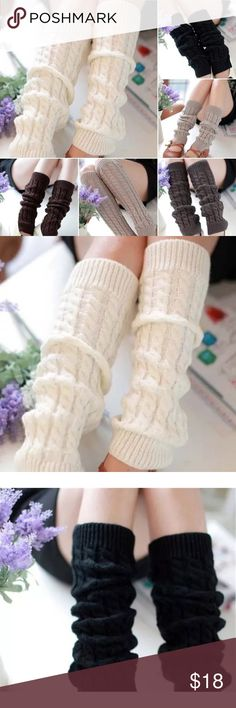Buy 2 get one free Knee High Socks Knit Crochet Winter Warmer Leggings US Seller  Condition:100% brand new  * Material:WOOL Blend  * High quality  * Feature:soft warm and fashionable  * One Size. Elastic fit most Colors. One in- black,white,brown,light grey and dark grey. But 2 get 1 free. Excludes any other bundling offers. Let me know and I will bundle it for you Accessories Hosiery & Socks