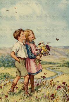 Vintage Antique Children's Fairy Tale Wall Art Image Digital Download 'Wonders Above' by VintageScrapBox