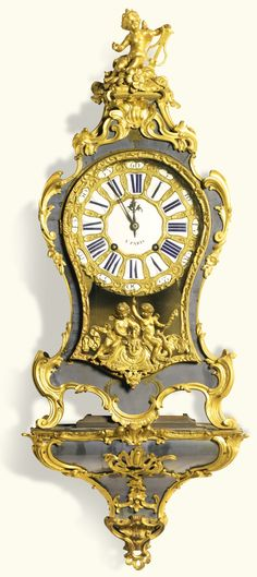 A Louis XV ormolu mounted 'corne bleu' bracket clock, Gudin, Paris, circa 1740.