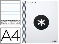 Imagen del producto CADERNO ESPIRAL LIDERPAPEL A4 MICRO ANTARTIK CAPA POLIPROPILENO 120 F 100G HORIZONTAL 5 BANDAS 4 FUROS COR BRANCO
