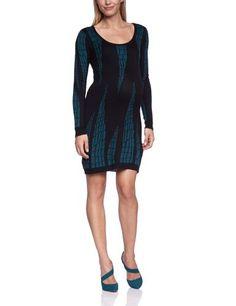 Mamalicious - Vestido premamá de punto de manga larga para mujer, talla 38, color black pattern deep teal