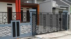 Simple Minimalist Yet Charming House Fence Design Ideas - CasaNesia Gate Wall Design, House Fence Design, Wood Fence Design, Modern Fence Design, Front Gate Design, Small House Design, Minimalist House Design, Minimalist Home, Charming House