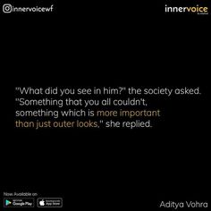 But the whole thing is that you never judge person as whole as you see him at a first glance. You have to examine him more or more until you couldn't find his real face of depth. Love Hurts Quotes, Real Love Quotes, Soulmate Love Quotes, Bae Quotes, Hurt Quotes, Quotes About Love And Relationships, Relationship Quotes, Heart Touching Story, Father Daughter Quotes